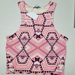 Crop top tribal small